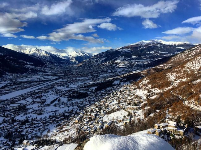 I love Aosta Valley Snow Mountain Cold Temperature Winter Nature Beauty In Nature Sky Tranquility Cloud - Sky Landscape Scenics Day Outdoors Snowcapped Mountain Tranquil Scene No People Valledaosta Lovemountains Perspectives On Nature Valledaostaigers