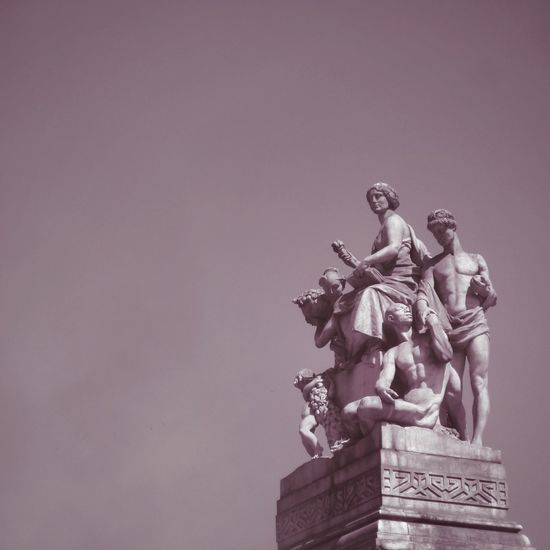 l i m a || v a p o r w a v e (Lima, nov 2017) Statue Male Likeness Human Representation Sculpture Low Angle View Day Sky No People Outdoors Lomography Peru Monochrome Vaporwave Aesthetics Aesthetic Lima Woman Retro Architecture Greek Girl Pink Pink Color Streetphotography The Week On EyeEm Art