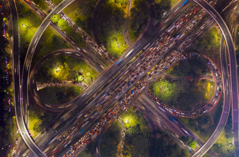 Transportation Road No People City Nature Plant Aerial View Architecture Tree Car High Angle View Motion Highway Motor Vehicle Building Exterior Street Built Structure Mode Of Transportation Connection Outdoors Multiple Lane Highway Cityscape Overpass