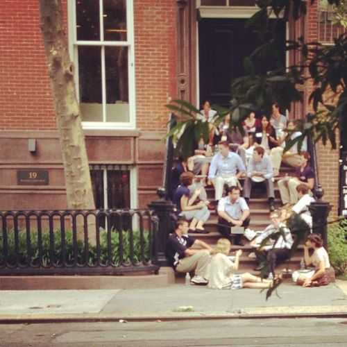 {instagram post} stoop hangout #nyc #NYU NYC Nyu
