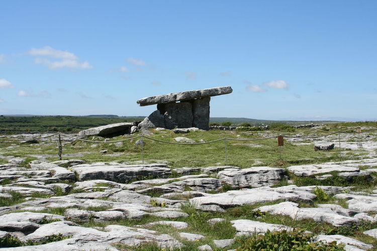 Poulnabrone dolmen against sky