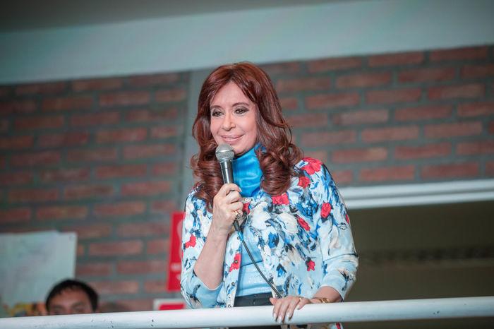 Cristina Fernández de Kirchner in Río Gallegos, one of the last announces as president. Kirchner Politics UTN Argentina Journalism