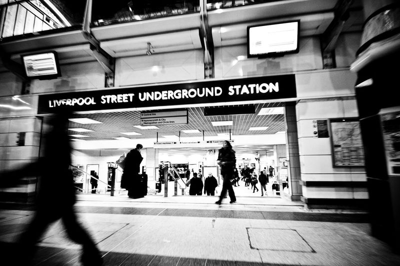 The Tube  in London hosts many awesome stations on its route. I could spend hours just hopping on and off the tube and snapping some fantastic dated and modern backdrops Liverpool Street Station Tube Station  Black & White Black And White Photography Black And White People People Watching People Photography Peoplephotography Railway Station Tube Tubestation Blackandwhite Black&white Blackandwhitephotography Black And White Collection  Black