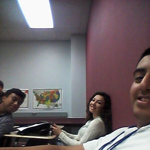 In class today with moy and genesis c: