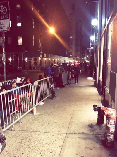 Soho Supreme Supreme Store Supremenyc LINE Wait Waiting In Line Outdoors People People Watching City Life The Life Of Pablo Nightphotography Winter February Another Step Taken In 2016