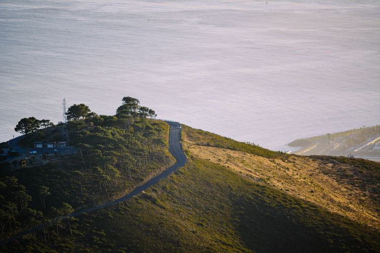 Beauty In Nature High Angle View Landscape Morning Nature Outdoors Road Scenics Sea Sunrise Tranquil Scene Tranquility The Great Outdoors With Adobe Eyeemawards2016