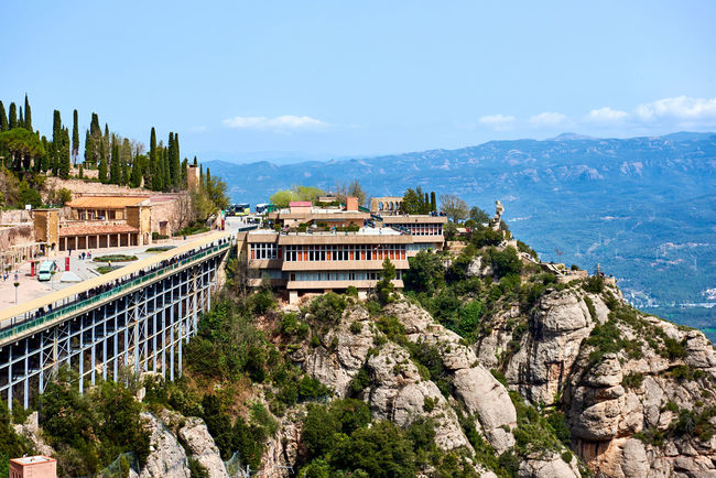 The Benedictine abbey of Santa Maria de Montserrat, Catalonia. Spain Ancient Barcelona, Spain Catalonia Cultures Europe Heritage Historical History Landscape Montserrat Mountain Monument Mountain Range Observation Deck Outdoors Pilgrimage Religious Architecture Rocky Mountains Santa Maria De Montserrat Scenery SPAIN Spectacular View Spiritual Sunny Day Travel Destinations Worship