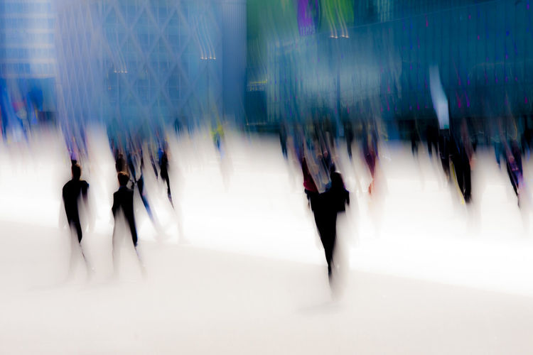 Paris, Paris la Defense, creative photography, abstract, motion, large place with people walking by. Art Blue Blurred Motion Citylife CityLifeStyle Creativity Lifestyles Light Motion Paris Paris La Defense People Walking  Shiny Speed Unrecognizable People White Futuristic Urban City Life Scenics Dreamy