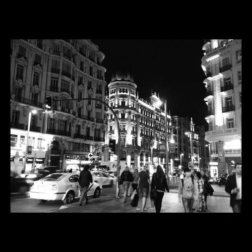 Hello World Madridrules gran via Me Enjoying Life