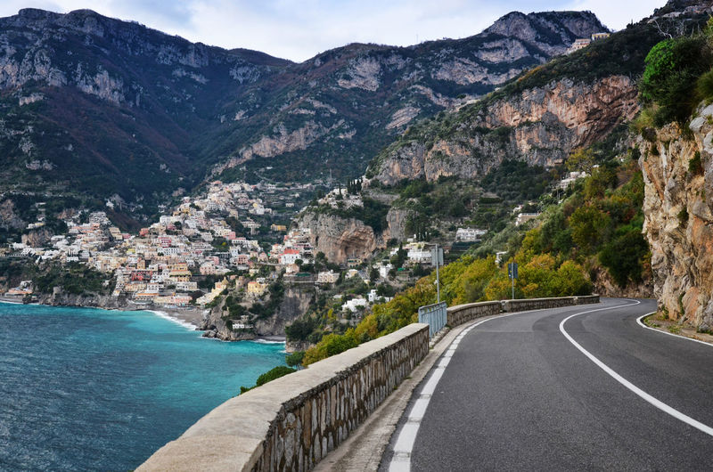 The road to Positano... Amazing Italy Streetphotography Amalficoast Beautiful Cityscapes Cliff Coast Enjoying Life Exploring Eye4photography  EyeEm Best Shots EyeEm Gallery EyeEm Nature Lover Landscape Landscape_Collection Mountain Road Roads Roadtrip Rock Rocky Mountains Sea Traveling Voyage