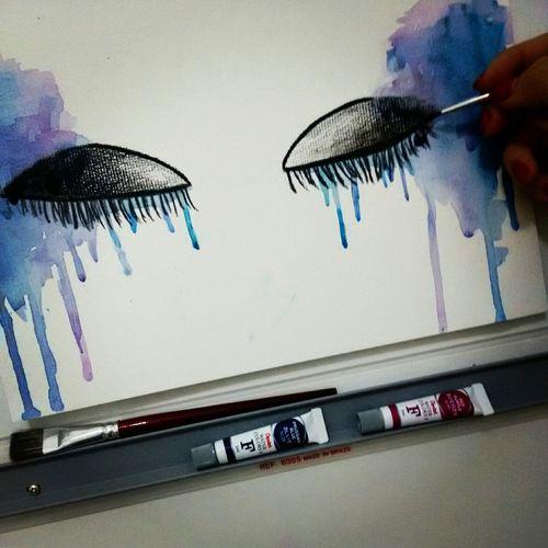 But... Crying Art, Drawing, Creativity Watercolor Pintura