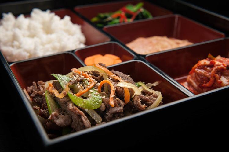 Korean Cuisine, beef bulgogi Asian Cuisine Beef Bento Korean Cuisine Korean Food Asian Food Beef Bulgogi Food Set Meal
