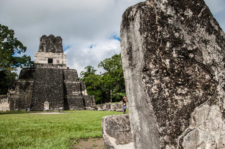 Ancient Ancient Civilization Grass Historic History Maya Old Old Ruin Outdoors Pyramid Rock Rock - Object Ruined Sacrifice Sculpture Spirituality Statue Stone The Past Travel Tikal