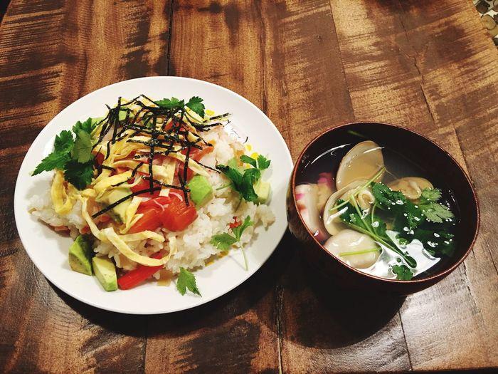 ちらし寿司 夕食 Dinner 雛祭り 3月3日(木)