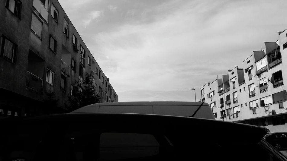 Architecture Car Building Exterior Window City No People Sky Outdoors Blackandwhite Hello World Love It Amazing Autumn Croatia Architecture Beauty In Nature