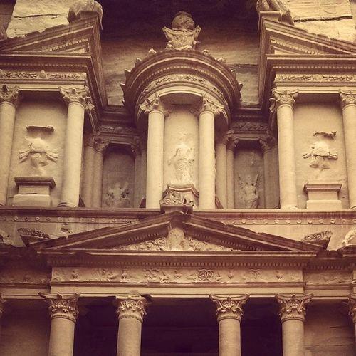 The Treasury in Petra. Petra Eritage Colors Instagram