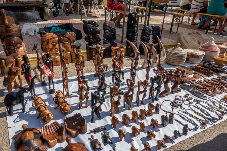 Choice Large Group Of Objects Retail  Variation Arrangement For Sale Abundance Market Sale No People In A Row Market Stall Collection Day Art And Craft Order High Angle View Shoe Retail Display Store Roquetas De Mar Street Market SPAIN Almería