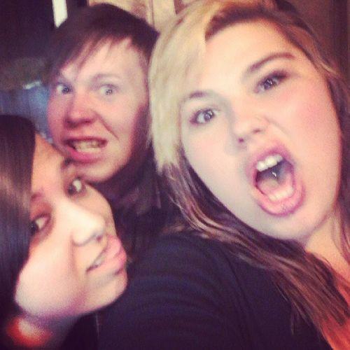 Being dorks. Summer Mylovelies Crazy Biffls