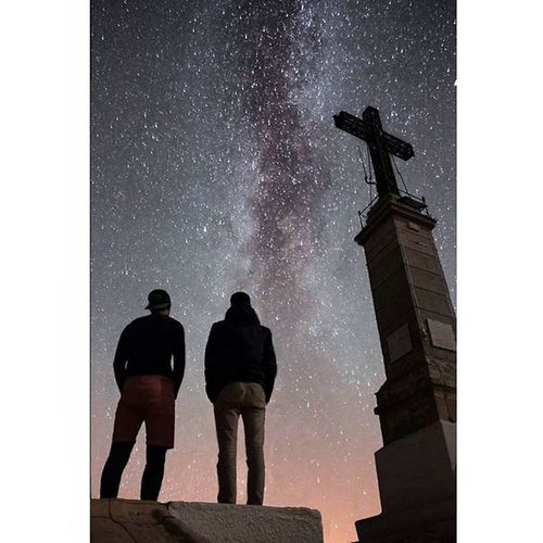 - ➖ - C o m p o s i n g - ➖ - M i l k y w a y - ➖ - S t. V i c t o i r e - ➖ Milkyway Aixenprovence Aix France Gopro Hero4 Cloudporn Amazing Beautiful Stars Goprovip Goprodreams Awesome Sky Summer Nature Erasmus Life Summer Trip Night Canon Mountain Montagne Stvictoire galaxy sunset packbackin cross peak top
