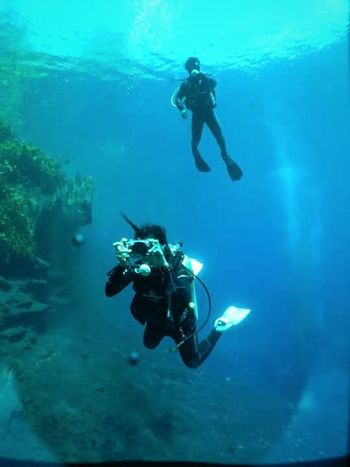 Adventure Club Diving Time Mexico Buceo Clearwater Lagoon Laguna Media Luna Phototime