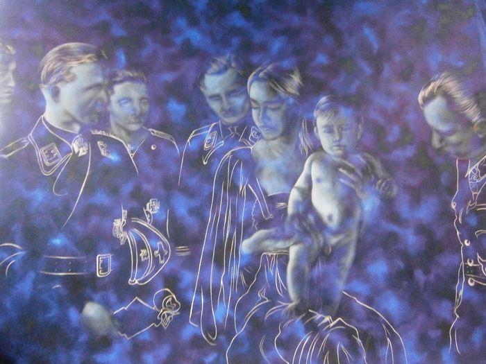 Art Oiloncanvas Jesus&mary MyArt Blue Dream Painting Oil Painting