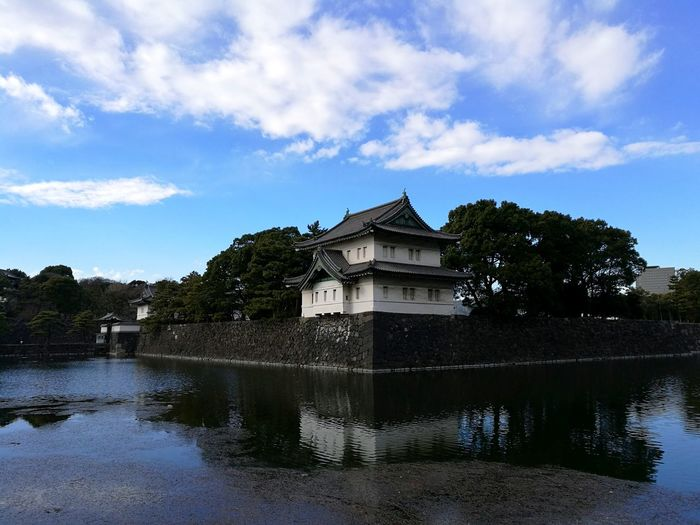 Japanese Style Japanese Architecture Sun Lake Imperial Palace Imperial Palace Garden Water Sky And Trees Japanese Temple Japanese Garden Mystical Place Sky Sky And Clouds Japan Japan Photography Tokyo