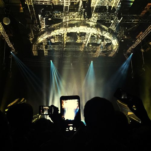 Arts Culture And Entertainment Illuminated Stage - Performance Space Popular Music Concert Technology Music Stage Light Concert Hall  Event Indoors  EyeEm Cellphone Photography Nightphotography SodaStereo Rock