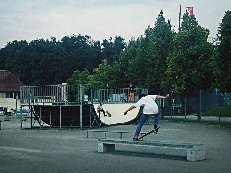 Skateboarding Friends Boy Street