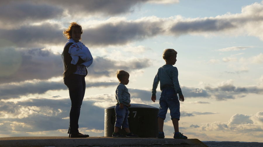 #sweden #Schweden #family #children #child #heaven #clouds #travelling Child Full Length Childhood Togetherness Bonding Standing Females Boys Girls Males  Family With Two Children Son First Eyeem Photo EyeEmNewHere