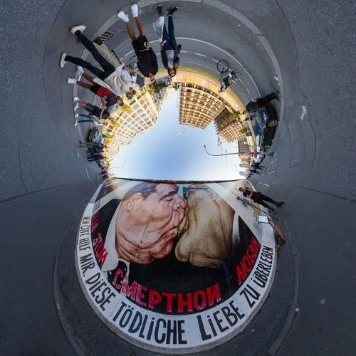 east side gallery Berlin Berlin Streetart Berlin Wall DDR DDR Time DDR Grenze Cold War Muro De Berlín Berliner Mauer Honecker Kiss Politics Communism EyeEm Selects Day Outdoors City