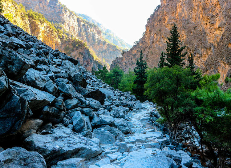 Nature Beauty In Nature Landscape Mountain No People Outdoors Stones Steine Felsenmeer Felswand Rock Formation Canyon Gorge Rocks Samaria Gorge Crete Greece Backgrounds Hintergrund
