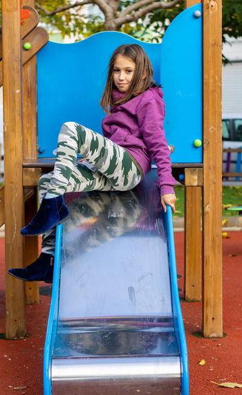 Girl playing at park