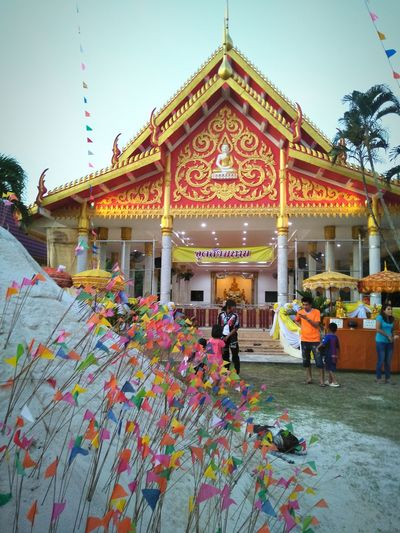Colorful #Thailand #Phuket #travel #temple Fair No People Building Exterior Outdoors Travel Destinations Flower Day Multi Colored Architecture Sky Religion Spirituality Built Structure