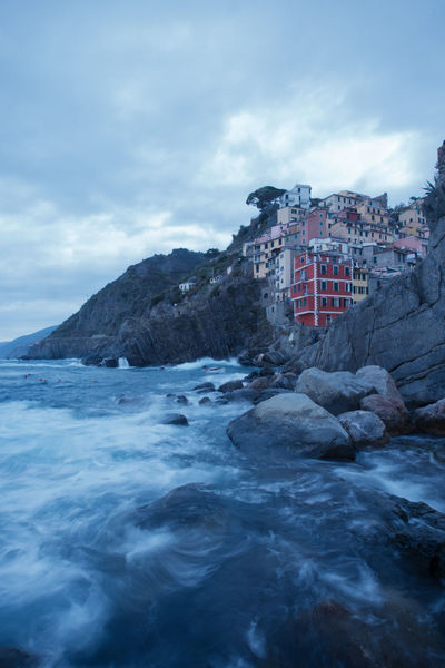 Riomaggiore sea view 5 Terre 5 Terre,italy 💗 Riomaggiore, Architecture Beauty In Nature Cloud - Sky Day Iceberg Long Exposure Motion Nature No People Outdoors Power In Nature Rock - Object Scenics Sea Sky Water Waterfront Wave