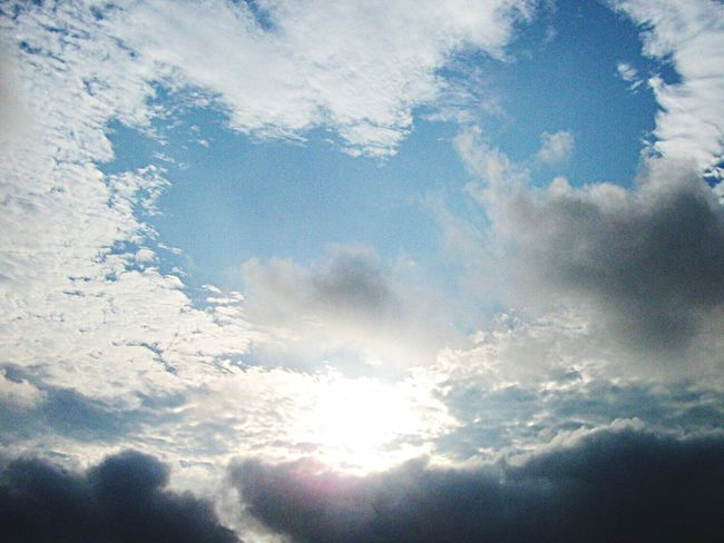 Some day I will fly away Cloud - Sky Sky Nature Low Angle View Beauty In Nature Backgrounds Day Scenics No People Sky Only Full Frame Tranquility Outdoors Sunlight
