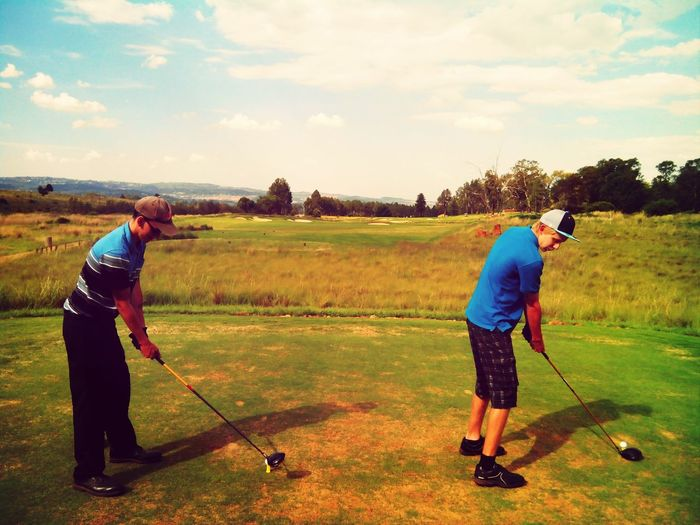 Playing golf with my gents at Eye Of Africa awesome day
