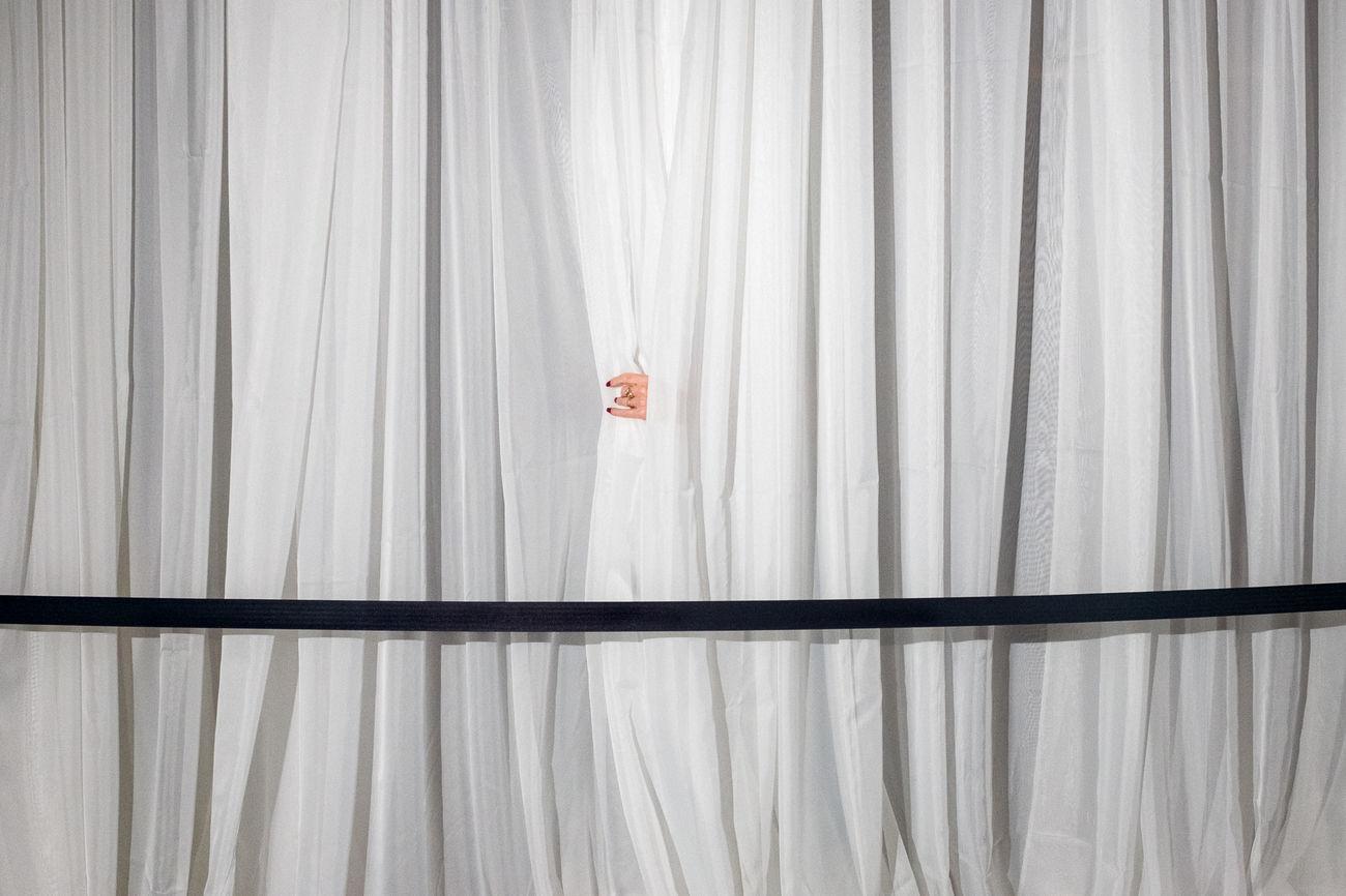 corrugated iron, curtain, corrugated, no people, outdoors