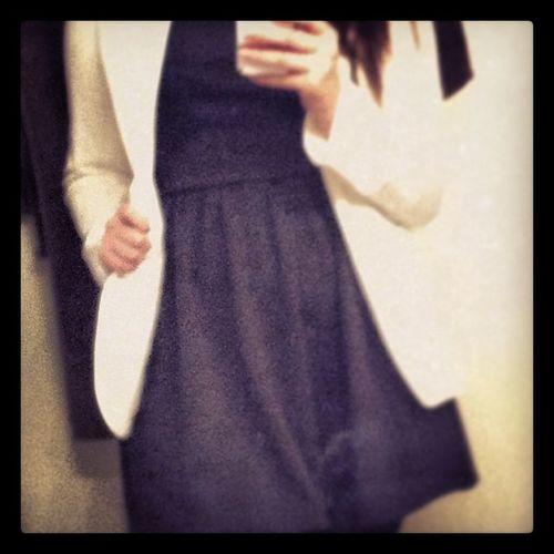 In love with my boyfriend blazer and skater dress. ☺️ Mycloset Newclothes