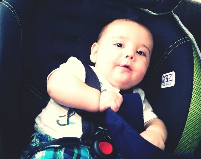 Bradley Kenneth Hand Your My Everything. BabyMohawk BigBoyCarSeat Mylove PlayingWithHisHat