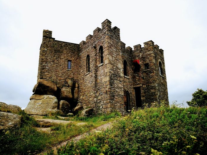 History The Past No People Outdoors Built Structure Ancient Architecture Low Angle View Day Sky Grass Building Exterior Ancient Civilization Cornwall Carn Brea Tranquility Castle