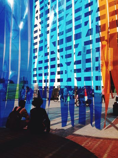 Art Installation Installation Art Filtered Image Stripes Everywhere Colors Urban Urban Landscape