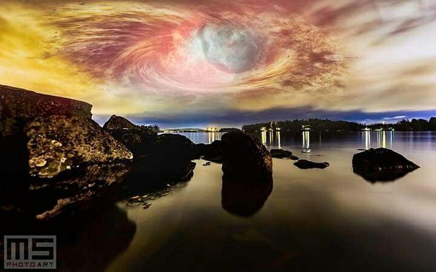 Photomanipution Shore Lake Beach Rocks Rock Nikon Nikonphotography Autumn Space Planet Unreal Nature