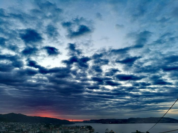 Sky Cloud - Sky Dramatic Sky No People Outdoors Beauty In Nature Sunset Night Approaching Bergen,Norway
