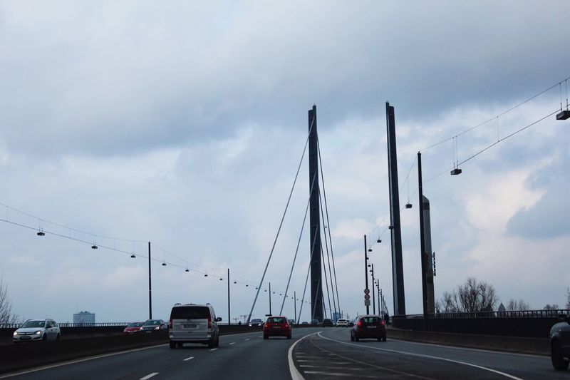 Bridge Drive At Home Nach Hause :)  Transportation Car Sky Cloud - Sky Mode Of Transport Land Vehicle Road Day Architecture Outdoors Built Structure No People City