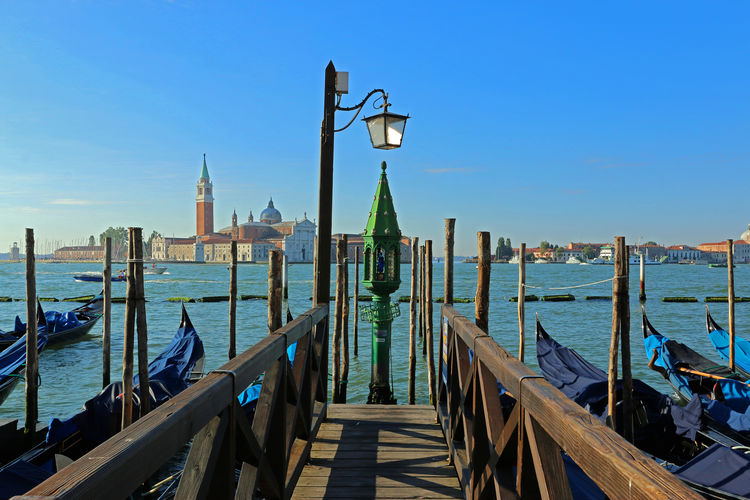 Architecture Blue Chriscurtis.photography Day Diminishing Perspective Empty Europe Gondola Holiday Italien Italy Jetty No People Pier Sea Sky Tourism Tranquil Scene Tranquility Travel Destinations Venice Venice, Italy Venise Venizia Water