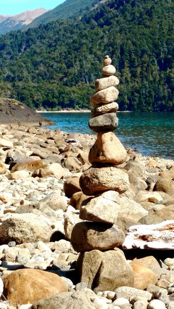 Lago Menendez Armonia Chubut Argentina Nothofagus Fine Art Photography Rocas Piedras Equilibrio