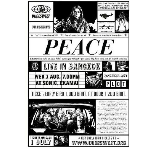 Dudesweet present ........Peace live in bkk 7 aug @sonic ekamai !!! Dudesweet