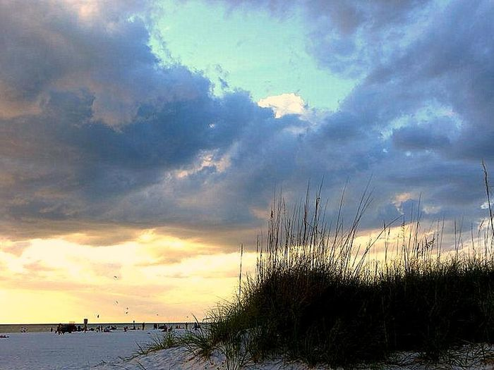 A Break In The Clouds Atmosphere Atmospheric Mood Beauty In Nature Clearwater Florida Cloud - Sky Dusk Grass Majestic Skyline Nature Outdoors Sky Tranquil Scene Tranquility