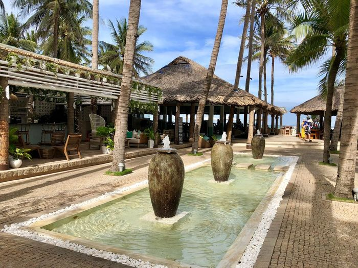 Resort Decorative Pool Pool Resort Na Trang Architecture Built Structure Tree Nature Sky Building Exterior Day Outdoors Water