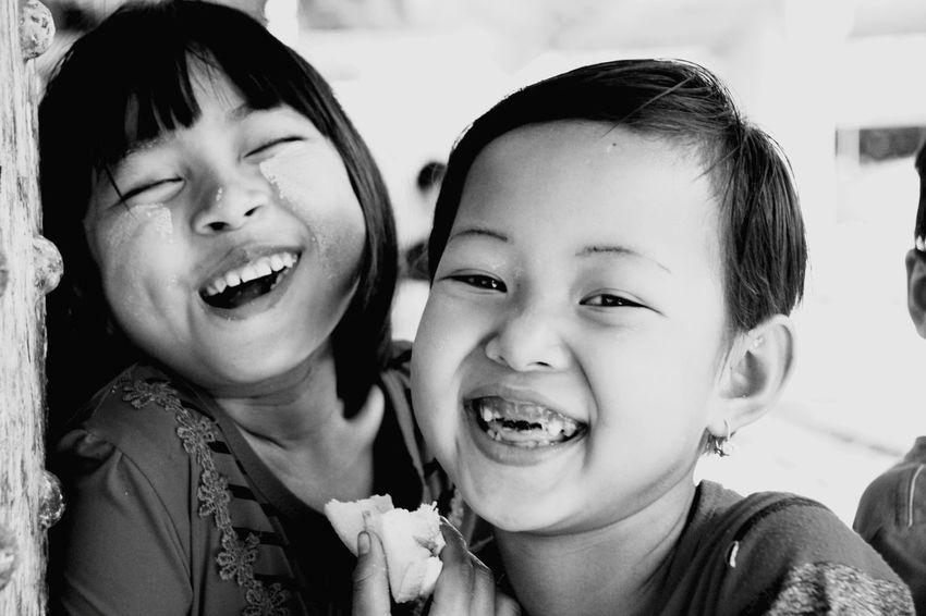 Domestic Life Real People Togetherness Spirituality Child Close-up Two People Happiness Smile Human Eye Myanmar Culture Yangon, Myanmar Yangoncirculartrain Outdoors Lifestyles Travel Destinations